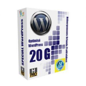 Hébergements Spécial WordPress