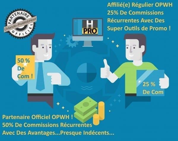 Affiliation-Partenariat=commissions