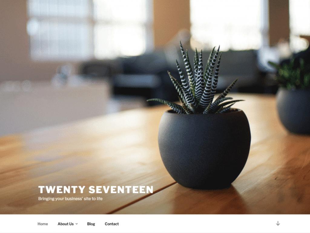 Thème Twenty à changer