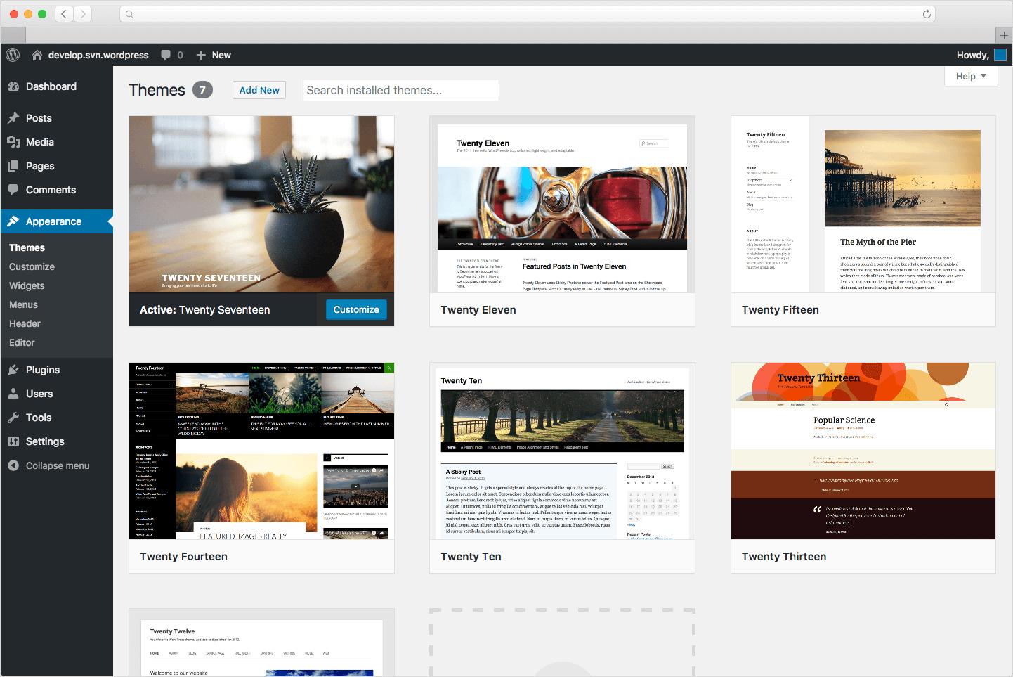Installer un nouveau thème WordPress